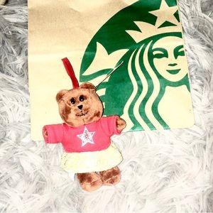 Starbucks bearista ornament limited edition plush